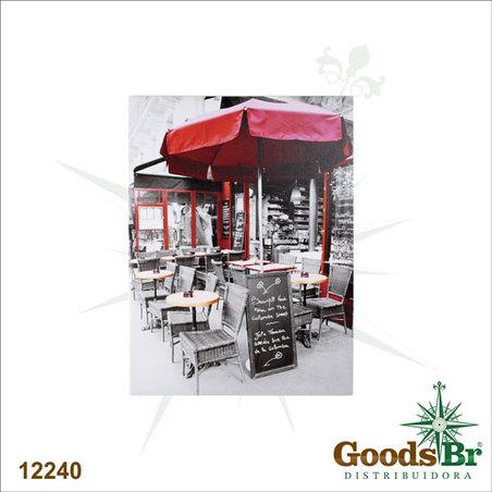 tela impressa caffe obrelone vermelho  80x60x3cm