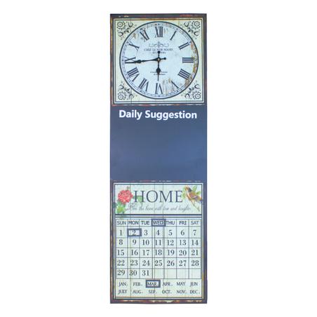 -relogio com calendar e lousa  60x30x4cm
