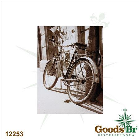 tela impressa bike escorada 40x30x2cm
