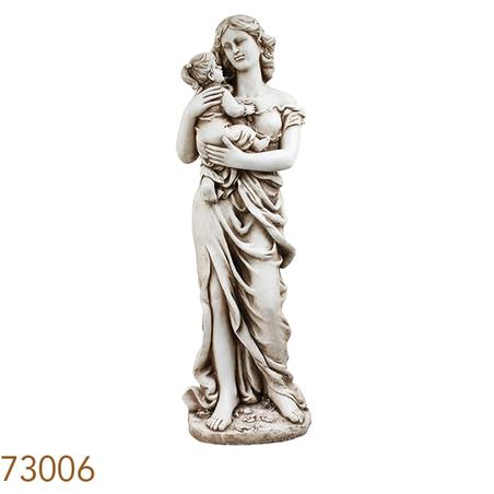 estatua mae e filha  118x33x36cm