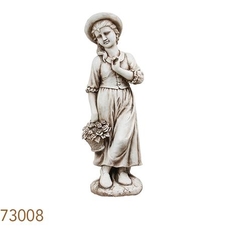 estatua menina com cesto  99x28x31cm