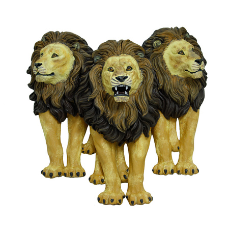 escultura trio leoes paredenatural  87x89x36cm