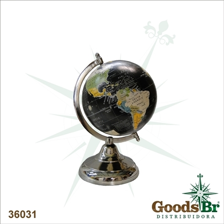GLOBO BLACK ALUMINIUM BASE OLDOLDWAY 26x15x15cm