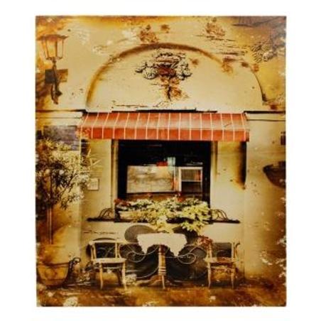 tela impressa antique cafe50x60x3cm
