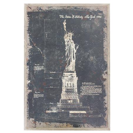 quadro estatua da liberdade120x80x3cm