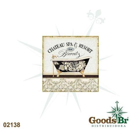 placa de metal chateau biarritz  25x25cm