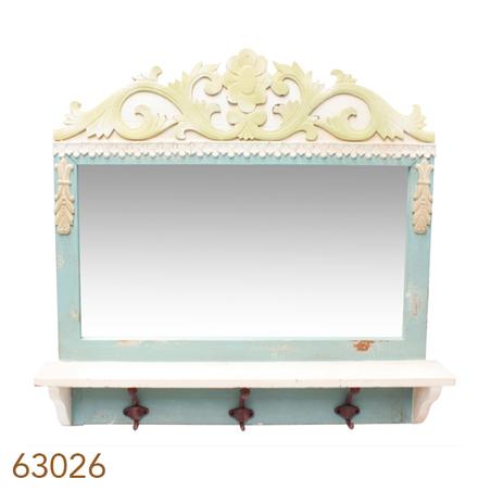 -espelho com aparador 3 ganchos  65x70x12cm
