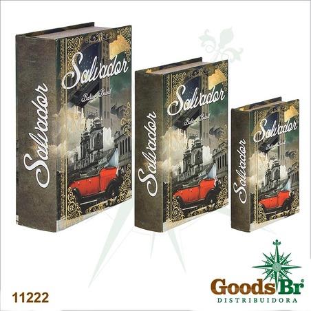 -book box cj 3pc salvador calhambeque  36x25x10cm
