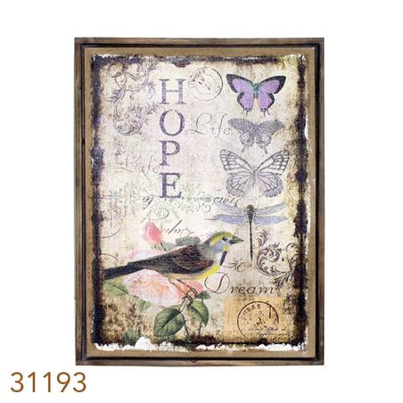 quadro linho antique hope  85x60x4cm