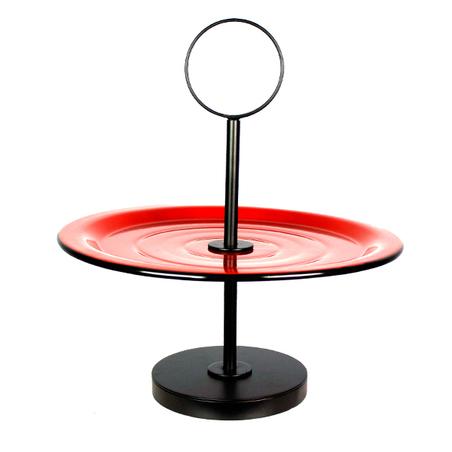 fruteira de mesa prato bolo pvermelha 36x33x33cm