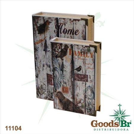 book box cj 2 pc seda home family  33x22x7