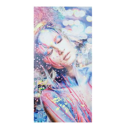 -tela impressa e pintada a mao girl  80x160x4cm