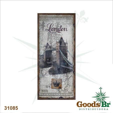tela antique london bridge linho  127x56x4cm
