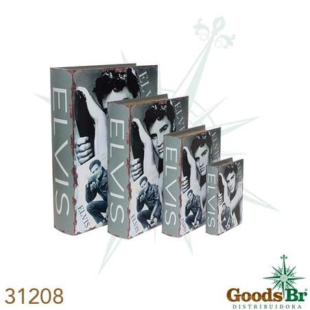 book box cj 4pc elvis  37x27x8cm
