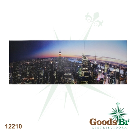 tela leds vista manhattan  70x195x4cm