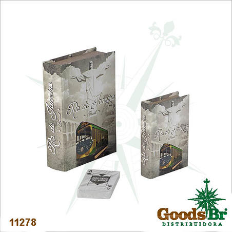 -book box cj 2pc cristo rj  20x14x4cm