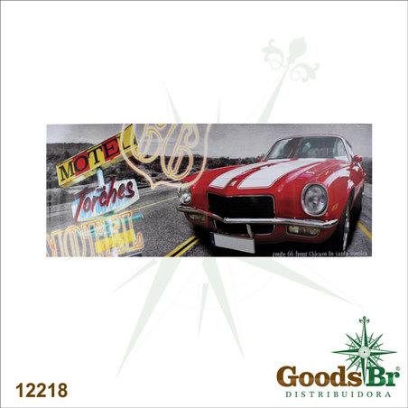 -tela impressa carro vermelho  60x150x4cm