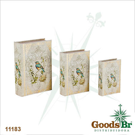 book box cj 3pc arabescos compassaro  3627x18x7cm