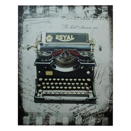tela impressa maquina de escrever  80x100x4cm