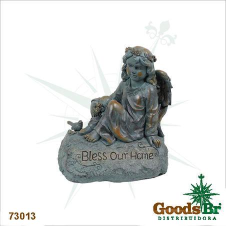 -estatua anjo bless your home  47x26x41cm