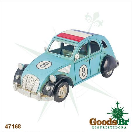 -carro franca citroen  azul emmetal  10x26x12cm