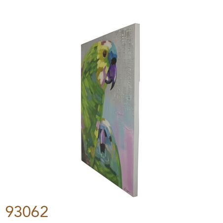 -quadro pintura arara verde120x90x4cm