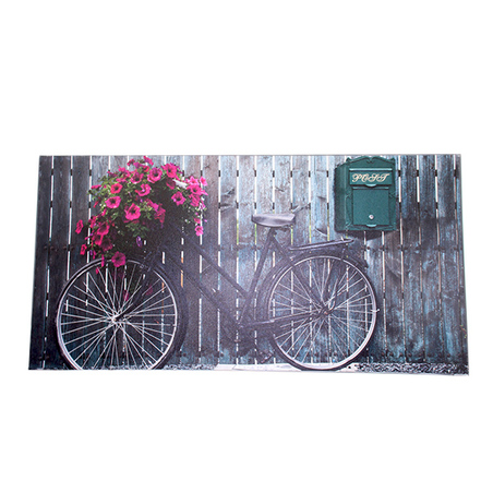 tela impressa old bicicle flower  80x160x4cm
