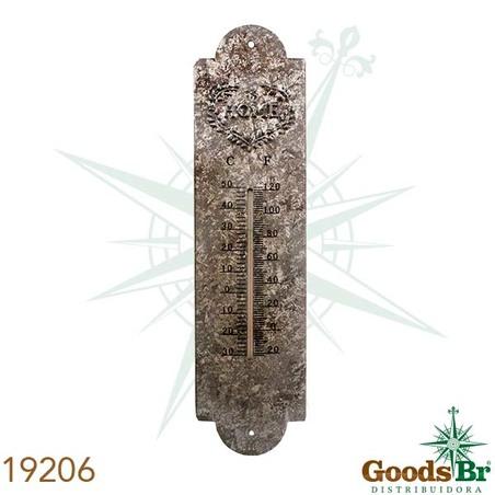 -termometro em metal cor zinco 39x10x1cm