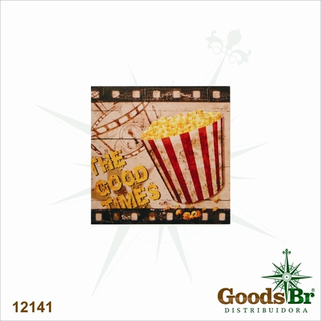 tela impressa pop corn movies 40x40x2cm