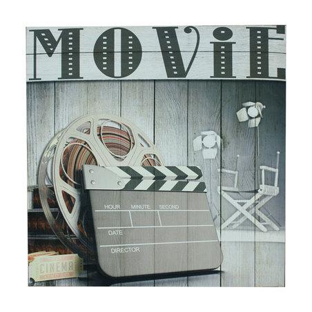tela impressa c mold movie claquete  60x60x3,5cm