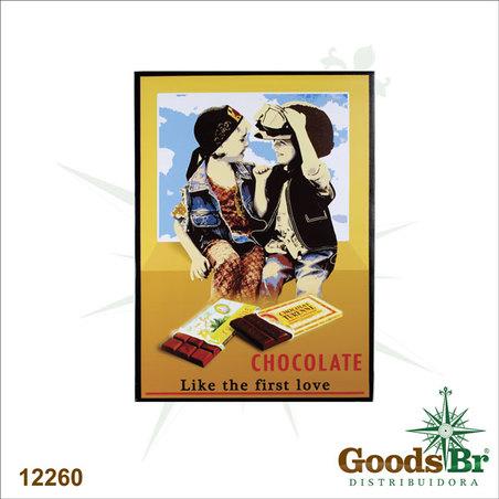 -tela impressa chocolate first love  70x50x3cm