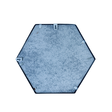 -espelho prata hexagonal  31x36x3cm