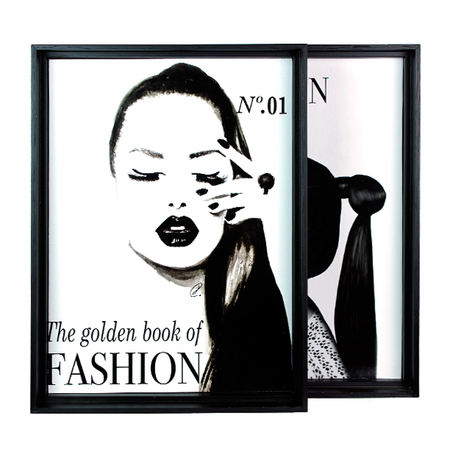 quadro cj 2pc the golden bookof fashion pto 39x29x4,5cm (02