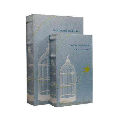 book box cj 2pc azul gaiolapassaro  27x18x7cm