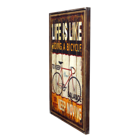 quadro linho life is likeblack  120x80x5cm