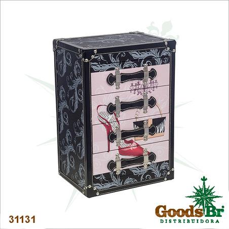 -comoda porta joias  50x34x25cm