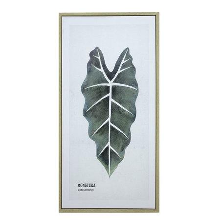 tela impressa c/ mold folhas monstera 120x60x3cm