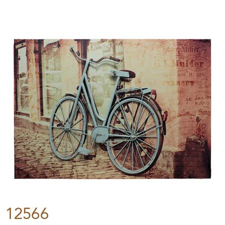 tela impressa c metal bike azul  70x100x4cm