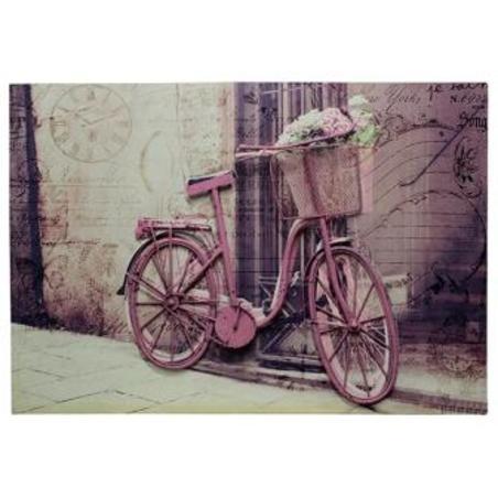 -tela impressa c metal bike rosa  70x100x4cm