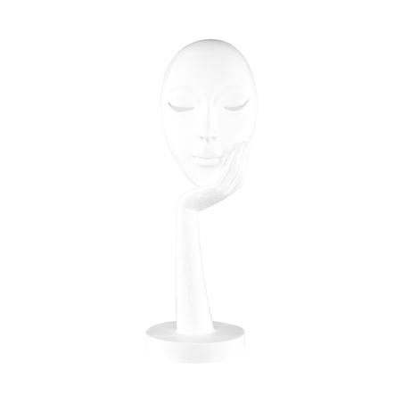 escultura rosto resina brancagrande 38x13x13cm