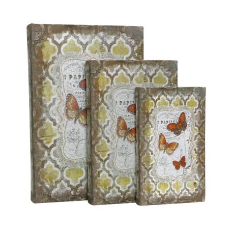 book box cj 3pc papel parede arab. amarelo  33x22x7c