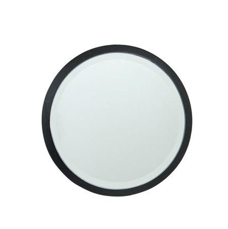 ESPELHO REDONDO MDF BLACK GOLDWAY 38x38x1,6cm