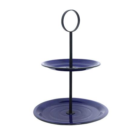 fruteira de mesa 2 andares azul 49x33x33cm