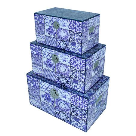 bau cj 3 pc azulejo  65x38x35cm