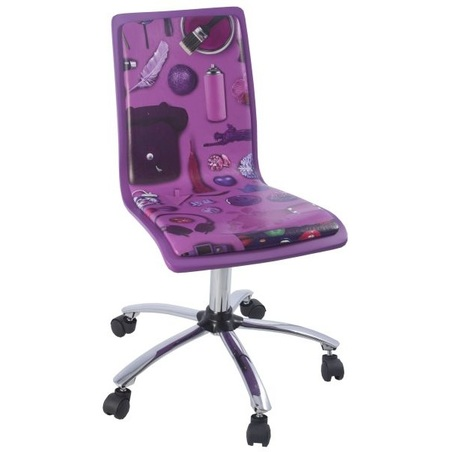 cadeira de computador lilas 87x43,5x55cm