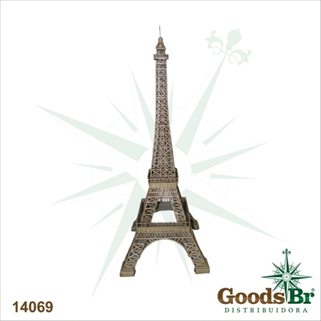 torre eiffel envelhecida emmetal   80x30x30cm