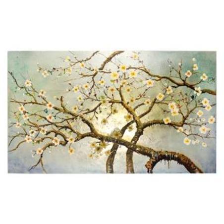 tela a Óleo cerejeira cinza 200x120x3,8cm