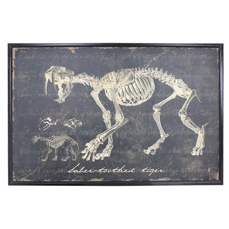 -quadro esqueleto de dente desabre  80x120x3cm