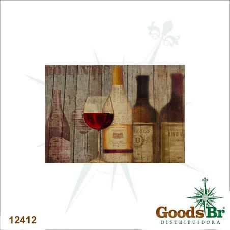 tela impressa vinho tinto  50x70x4cm