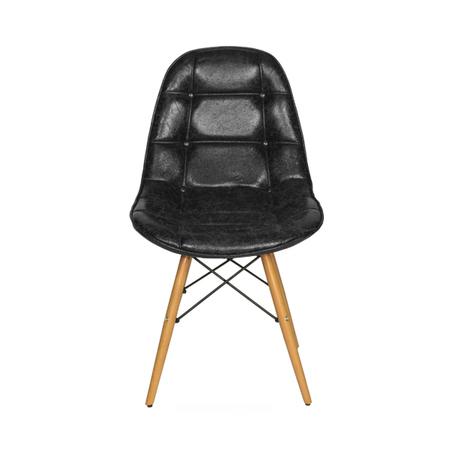 cadeira pe palito captone pu preto 85x47x52cm